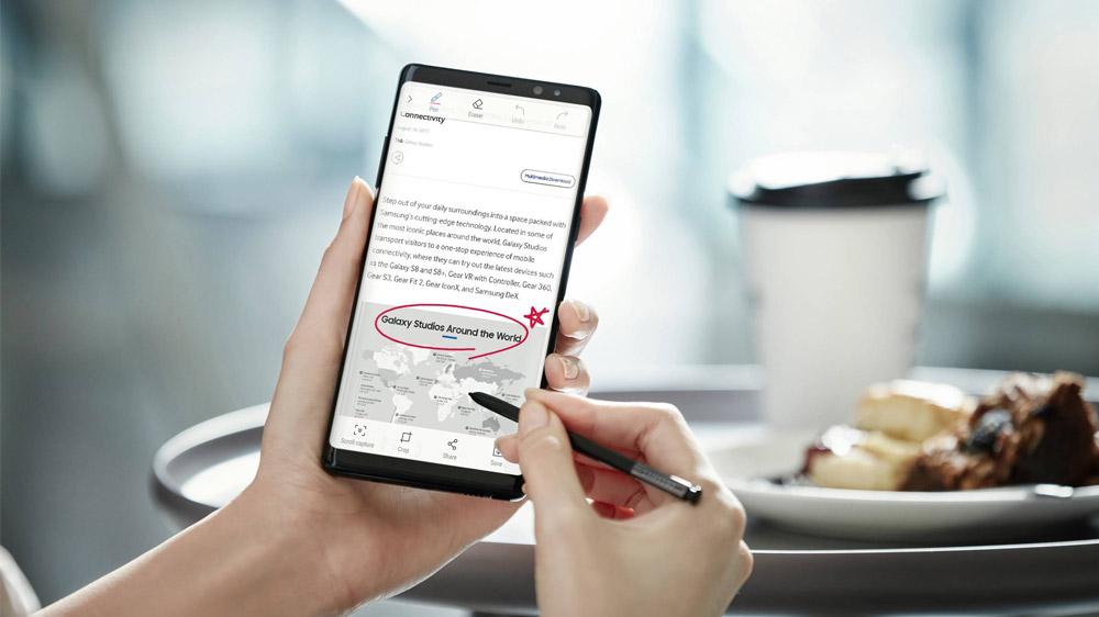 Samsung Galaxy Note 8 ile tek seferde uzun metinlerin ekran görüntüsünü alma [Nasıl yapılır?]